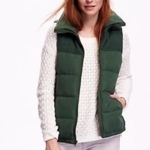 Old Navy Mixed Fabric Frost Free Vest Green XSmall